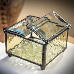 English Muffle Glass | J. Devlin Glass Jewelry Box