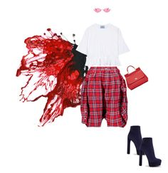 """""""I got you"""" by nastasiaboursi on Polyvore featuring Dolce&Gabbana, Prada, R13, Casadei and Gucci"""