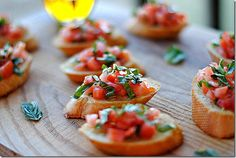 Tomato and Basic Bruschetta. From Eat yourself skinny
