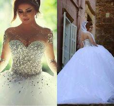 Barato Disse Mhamad manga comprida vestido de casamento vestidos de noiva vestido de baile vestidos de luxo vestido de casamento para noivas, Compro Qualidade Vestidos de noiva diretamente de fornecedores da China:             Descrição                                                                  Bem-vindo visitar minha loj