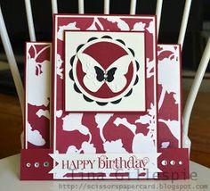 Scissors Paper Card: Timeless Portrait Birthday Card