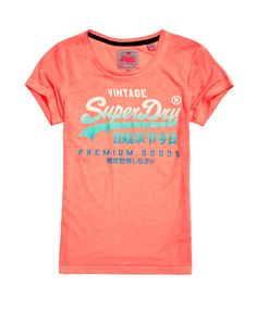 Superdry T-shirt Premium Goods Tri-Fade Coral