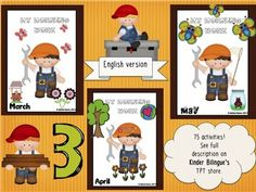 My morning work (March, April, May) Packet 3 by Kinder Bilingue by Juliana Suarez | Teachers Pay Teachers