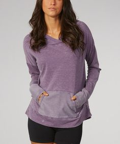 Another great find on #zulily! Shadow Purple Surplice Hoodie by Balance Collection #zulilyfinds