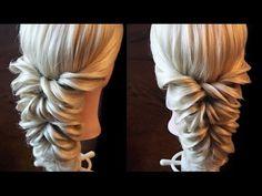 Свадебная причёска с помощью резинок - YouTube