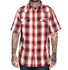 Sullen Clothing Water Down Tee Men's White Short Sleeve Cotton Graphic T-Shirt #Sullen #ButtonFront