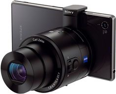 Sony Smartphone Interchangeable Attachable DSLR Lens-Style Camera with Optical Zoom and NFC/ Wi-Fi in Black + Sony Class 10 microSDHC + Replacement Battery + Carrying Case + Stylus + Focus Multi Card Reader + Accessory Kit Sony Camera, Camera Gear, Big Camera, Sony Phone, Phone Lens, Camera Tips, Smartphone, Best Digital Camera, Digital Cameras