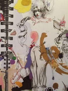 Textiles Sketchbook, Artist Sketchbook, Sketchbook Pages, Fashion Sketchbook, Figure Drawing, Painting & Drawing, Collage Art, Collages, A Level Art