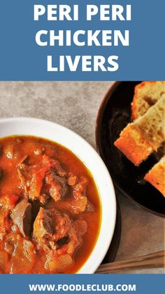 Peri Peri Chicken Livers - tender chunks of chicken liver, swimming in a tomato and onion gravy, spiced up with chili. Grab your crusty breadroll and dive right in. #southafrican #chickenlivers #periperichickenlivers# #starters Braai Recipes, Top Recipes, Meat Recipes, Chicken Recipes, Fresh Chicken, Creamy Chicken, South African Recipes, Ethnic Recipes, Savory Snacks