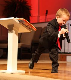 Have you seen him? Hes adorable! ONly 4 years old and hes already preaching at a pentecostal church in Mississippi! I think i went to church camp with his comgregation once...