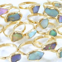 Raw Opal Ring Opal Ring OpalBirthstoneBridesmaid by inbalmishan