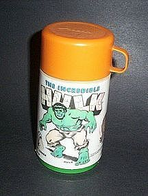 The Incredible Hulk Thermos , 1978 Marvel Comics Group by Aladdin.