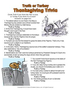 A little trivia for Thanksgiving!