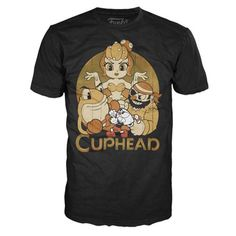 Cuphead and Bosses Black Pop! T-Shirt - Funko - Cuphead - T-Shirts at Entertainment Earth