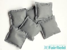 You can whip up these bean bags in less than 30 minutes with minimal supplies! Oly-fun is the perfect material for simple bean bags that can be used for party games.