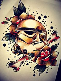 The original pinners description said darth vader tattoo and I nearly jumped out my window Star Wars Film, Simbolos Star Wars, Stormtrooper Tattoo, Darth Vader Tattoo, Sketch Tattoo Design, Tattoo Sketches, Tattoo Designs, Star Wars Tattoo, Star Tattoos