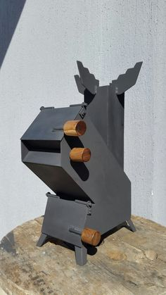Cocina Cohete - Rocket Stove - Mechero - $ 2.200,00 Rocket Stove Design, Furnace Heater, Metal Fire Pit, Fire Pits, Rocket Stoves, Iron Work, Bbq Grill, Outdoor Cooking, Bushcraft