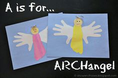 "One of the themes we studied Along the Alphabet Path during ""A Week"" was Angels! (Update: You can find all our Aa week Activities her. Catholic Crafts, Church Crafts, Michaelmas Day, Abc Preschool, Fun Crafts, Crafts For Kids, Happy Feast, Our Lady Of Sorrows, Life Is Precious"