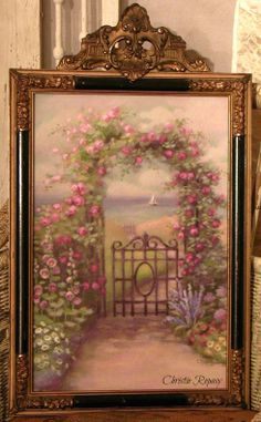Garden Gate painting ~ C.Repasy