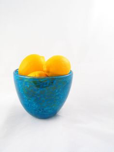 Aqua Glass Bowl Caribbean Sea Blue  Entertaining by AvolieGlass, $40.00