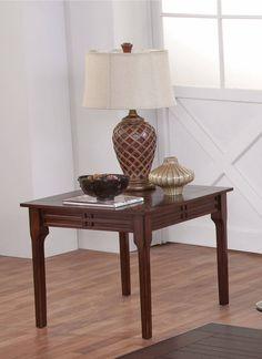 Burton African Honey Hardwood Solids Veneer End Table
