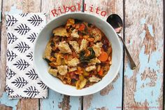 Ribollita - a deliciously rustic Tuscan soup full of veggies that will fill you up and warm your belly, perfect healthy comfort food. YUM!