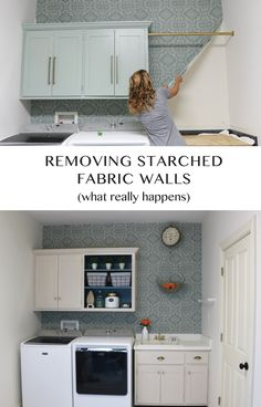 Removing Starched Fabric From Walls - Sincerely, Sara D.   Home Decor & DIY Projects