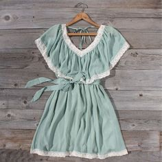 Mint Whisper Dress, Sweet Women's Country Clothing I can totally see this with my cowboy boots! Look Fashion, Kids Fashion, Fashion Outfits, Pretty Outfits, Cute Outfits, Cute Dresses, Summer Dresses, Hippy Chic, Mint Dress