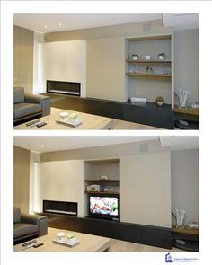 Sierschouw met aansluitend tv-meubel/kast