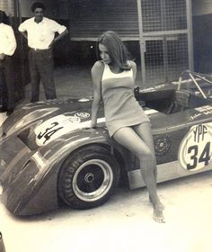 Race: 1000 km of Buenos Aires; Year: 1972; Car: Chevron B19; Driver: John Hine; Girl: unfortunately I don't know.