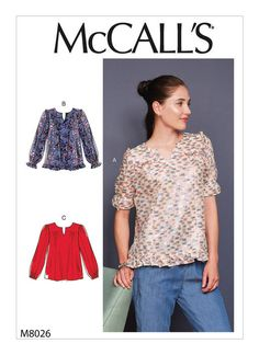 Sewing patterns for fashion clothing, crafts and home decorating. Dress sewing patterns, evening and prom sewing patterns, bridal sewing patterns, plus costume and cosplay sewing patterns. Mccalls Sewing Patterns, Vogue Patterns, Blouse Ample, Dressmaking Fabric, Extra Fabric, Bias Tape, Top Pattern, Stylus, Fashion Outfits