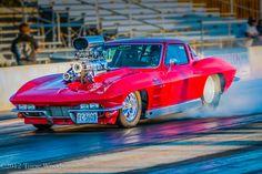 Blown Vette at Texas Raceway