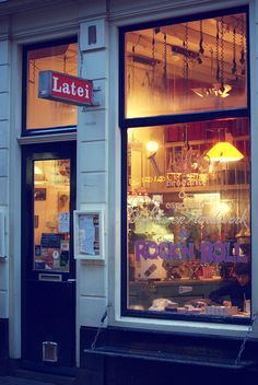Latei, a small second-hand Cafe in Amsterdam.  I've heard of second-hand clothing and furniture stores but this is a first!  ASPEN CREEK TRAVEL - karen@aspencreektravel.com