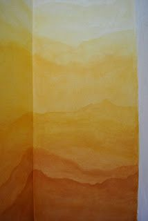 Ombre wall landscape MetamorFaux - Dboy's would be gray & turquoise shades with building shapes for end of the world (futuristic/sci-fi) Ombre Painted Walls, Painted Paper, Ombre Walls, Dream House Plans, My Dream Home, Lazure Painting, Big Girl Rooms, Wall Treatments, Diy Wall Art