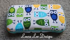 Hoot Owls in Blues and Green Boutique Style by LauraLeeDesigns108, $9.00