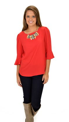 A shirt that's so adorable it can be worn to work or to play! $38 at shopbluedoor.com