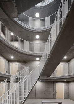 Tham & Videgård creates rows of upside-down arches with Västra Kajen housing