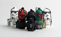 the Stormtrooper, Boba Fett, Darth Vader, et Darth Maul #STARWARS #USB