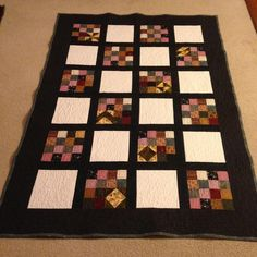 My first free motioned quilt project on Craftsy.com, Big Projects on a Small Machine