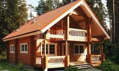 Rovaniemi Log House model : The Country House. Finland