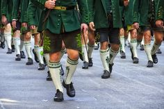 Traditional Octoberfest costume and riflemen's parade through the streets of Munich...