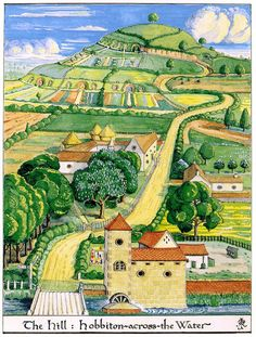 The Hill. Hobbiton-across-the-Water. Illustration by Tolkien