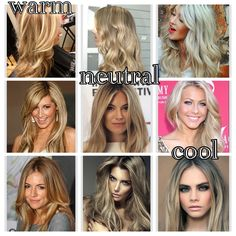 The difference between warm, neutral and cool blonde tones #bukes