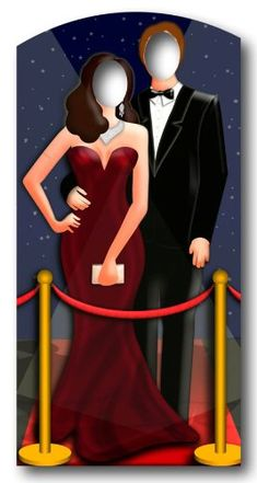 cisino++theme+dress | Red-Carpet / Hollywood Couple Stand In - Stand In Lifesize Cardboard ...