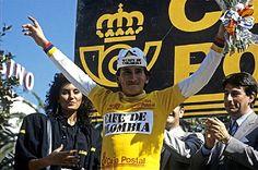 Lucho' Herrera se coronó campeón de La Vuelta a España en 1987. Vistió por once… Cycling, Baseball Cards, Fitness, Bicycle, Spaces, Twitter, Ideas, Amazing, Tour De France