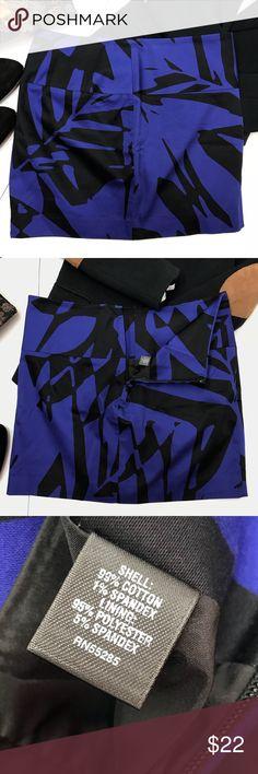 Express Design Blue & Black Cotton Skirt Size 00 Express Design Blue & Black Cotton Skirt Size 00. Express Skirts