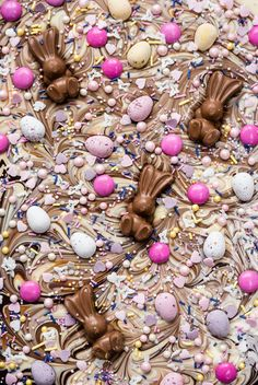 This Easter Chocolate Bark Recipe Is the Most Addictive Treat You Will Ever Make! via Brit Co This Easter Chocolate Bark Recipe Is the Most Addictive Treat You Will Ever Make! via Brit Co Easter Candy, Hoppy Easter, Easter Treats, Easter Food, Easter Baking Ideas, Easter Snacks, Easter Cookies, Easter Decor, Easter Eggs