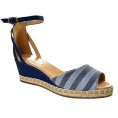 9db6083f2 A Sandália Anabela Bottero Jeans - Azul é uma sandália charmosa que  acompanha você em dia lindo, com muito charme e elegância nos pés!