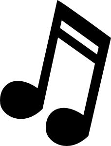 Musical Note 3 Clip Art ...site to print out free music notes for stencils!