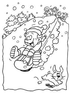 Kleurplaten Wintersport.Kleurplaat Skilift 112 Best Images About Winter Kleurplaten On